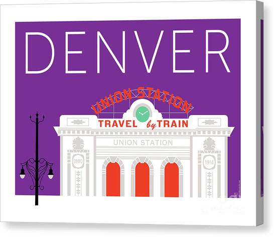 Denver Union Station/purple Canvas Print