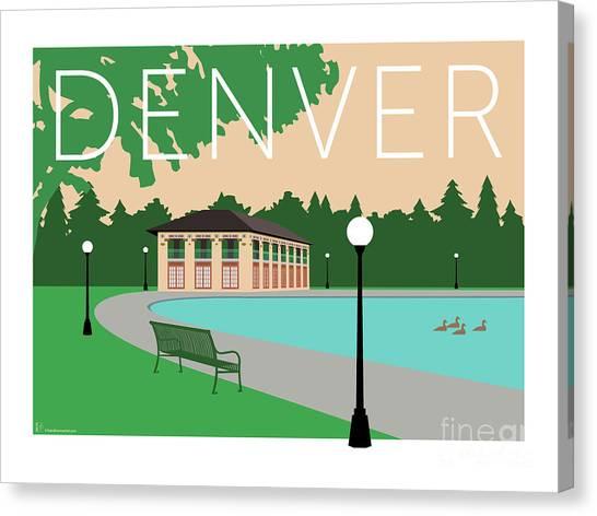 Denver Washington Park/beige Canvas Print
