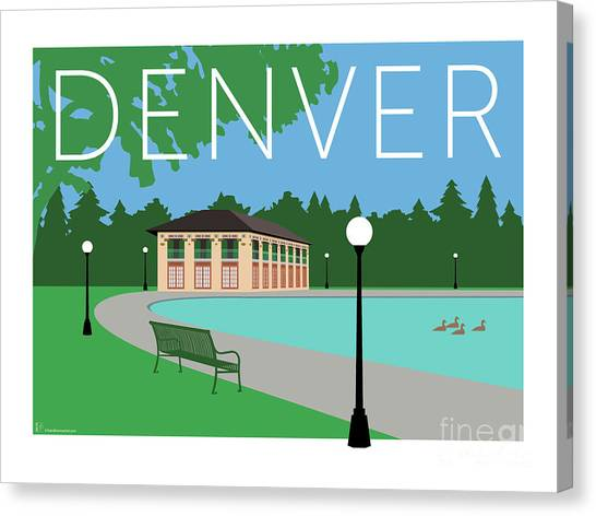 Denver Washington Park/blue Canvas Print