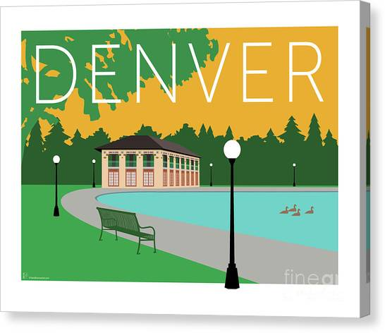 Denver Washington Park/gold Canvas Print
