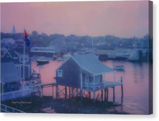Departing Nantucket Canvas Print