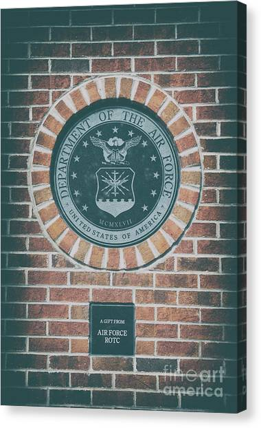 Rotc Canvas Print - Department Of The Air Force by Dale Powell