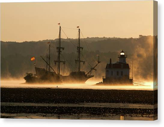 Departure Of El Galeon I Canvas Print