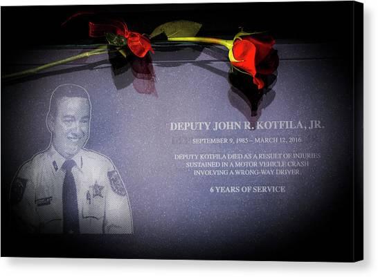 Police Officers Canvas Print - Deputy Kotfila by Marvin Spates