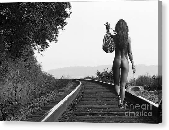 Train Canvas Print - Derailed by Naman Imagery
