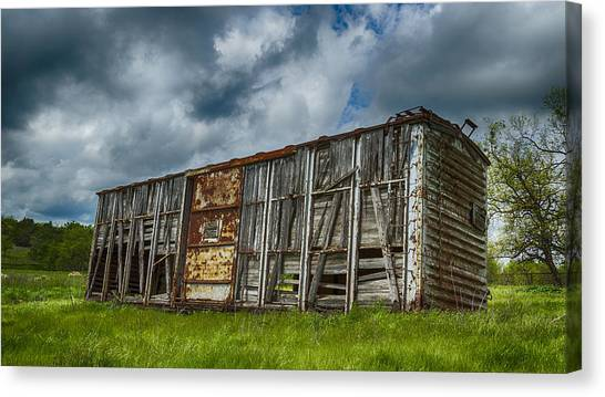 Stock Cars Canvas Print - Derailed by Stephen Stookey