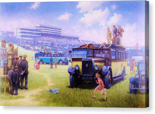 Derby Day Epsom 1929. Canvas Print