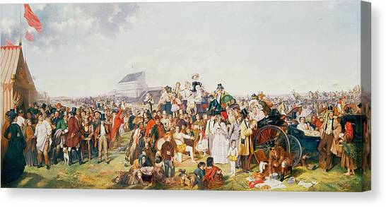 Horseracing Canvas Print - Derby Day by William Powell Frith