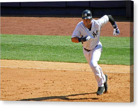 Derek Jeter Canvas Print - Derek Jeter by Mitch Cat