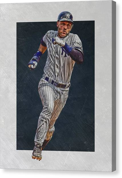 Derek Jeter Canvas Print - Derek Jeter New York Yankees Art 3 by Joe Hamilton