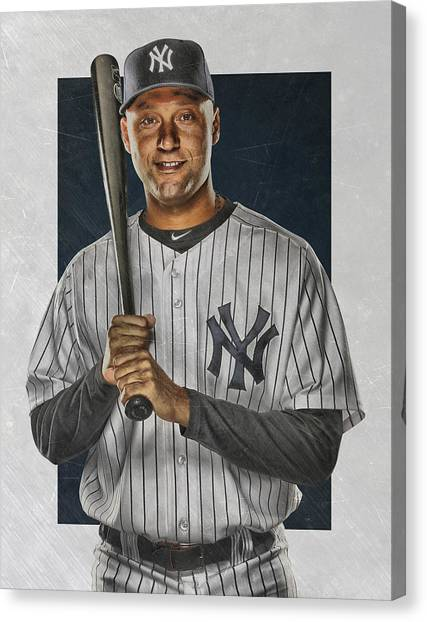 Derek Jeter Canvas Print - Derek Jeter New York Yankees Art by Joe Hamilton
