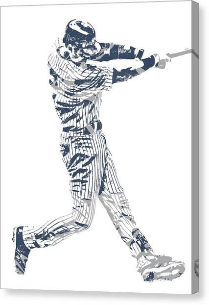 Derek Jeter Canvas Print - Derek Jeter New York Yankees Pixel Art 10 by Joe Hamilton
