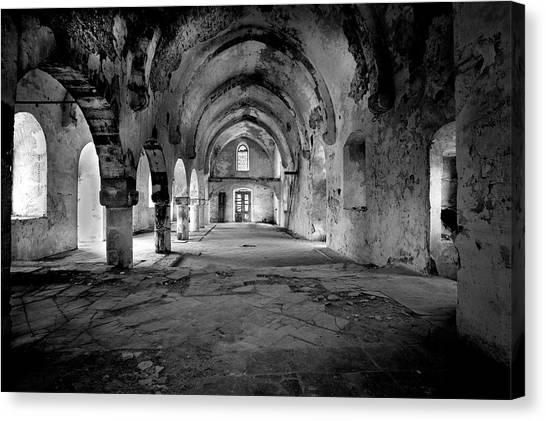 Derelict Cypriot Church. Canvas Print