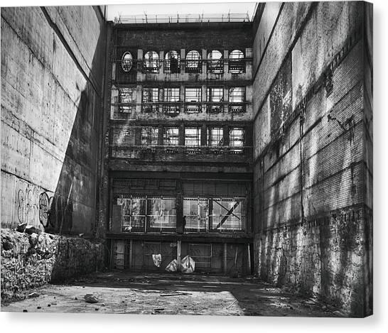 Urban Decay Canvas Print - Derelict Demolition by Theresa Tahara