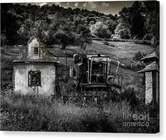 Derelict Farm, Transylvania Canvas Print