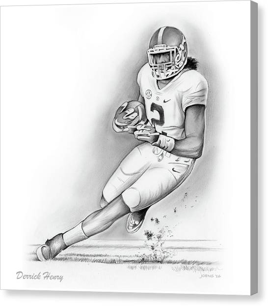 Running Backs Canvas Print - Derrick Henry by Greg Joens