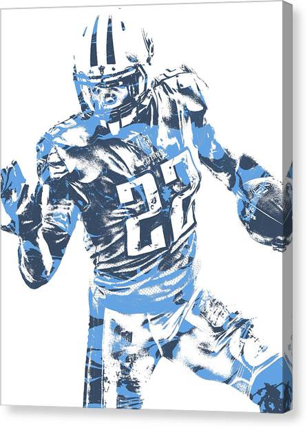 Tennessee Titans Canvas Print - Derrick Henry Tennessee Titans Pixel Art 11 by Joe Hamilton