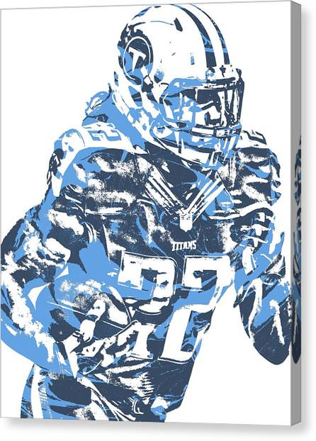 Tennessee Titans Canvas Print - Derrick Henry Tennessee Titans Pixel Art 14 by Joe Hamilton