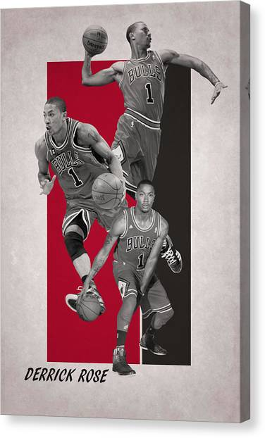 Chicago Bulls Canvas Print - Derrick Rose Chicago Bulls by Joe Hamilton
