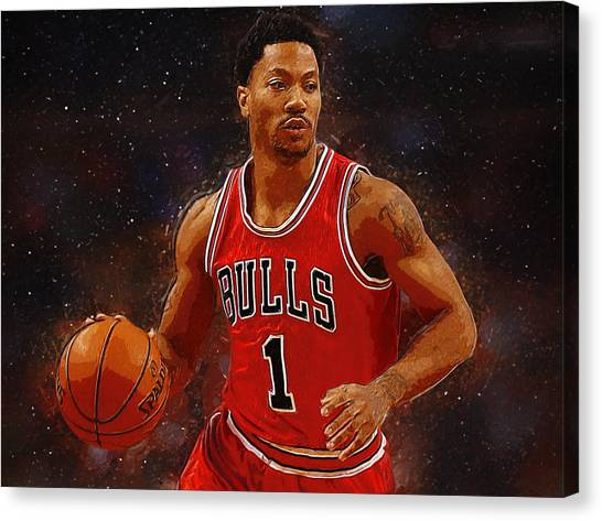 Dwight Howard Canvas Print - Derrick Rose by Semih Yurdabak