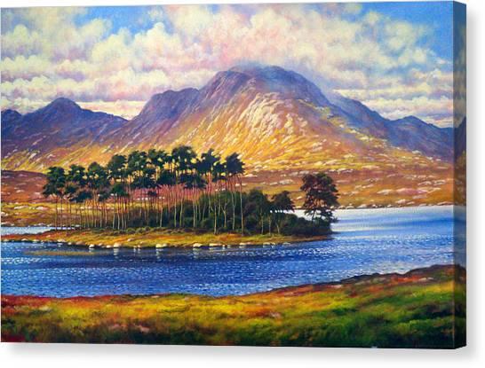 Derryclare,connemara,ireland Canvas Print by Alan Kenny