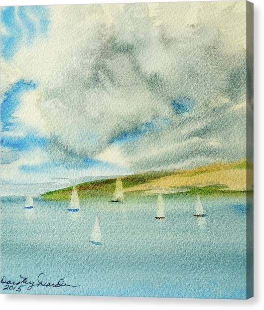 Dark Clouds Threaten Derwent River Sailing Fleet Canvas Print
