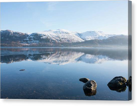 Derwentwater Rocks Canvas Print