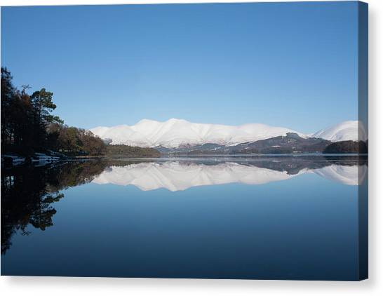 Derwentwater Winter Reflection Canvas Print