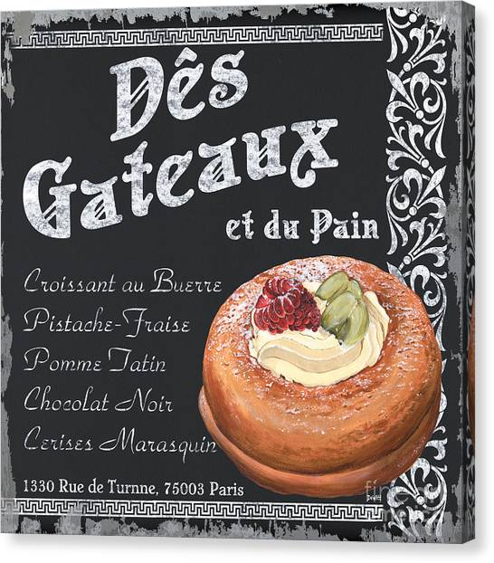 Greek Canvas Print - Des Gateaux by Debbie DeWitt