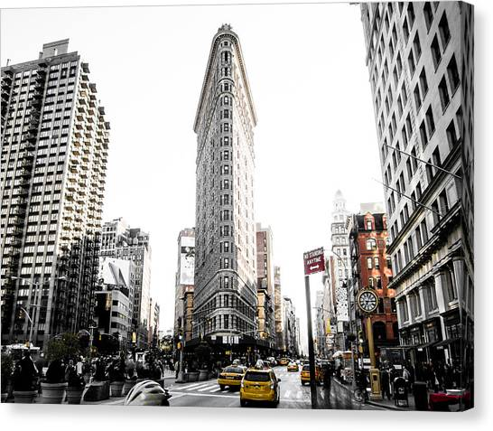 Taxi Canvas Print - Desaturated New York by Nicklas Gustafsson