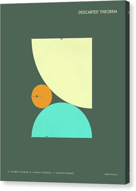 Abstract Art Canvas Print - Descartes Theorem - A by Jazzberry Blue
