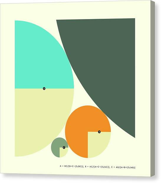 Abstract Art Canvas Print - Descartes Theorem - B by Jazzberry Blue