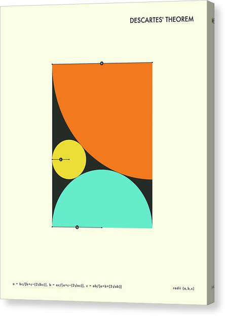Abstract Art Canvas Print - Descartes Theorem by Jazzberry Blue