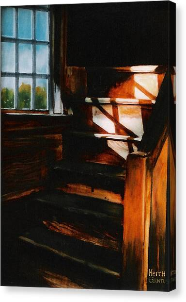 Descending Light Canvas Print