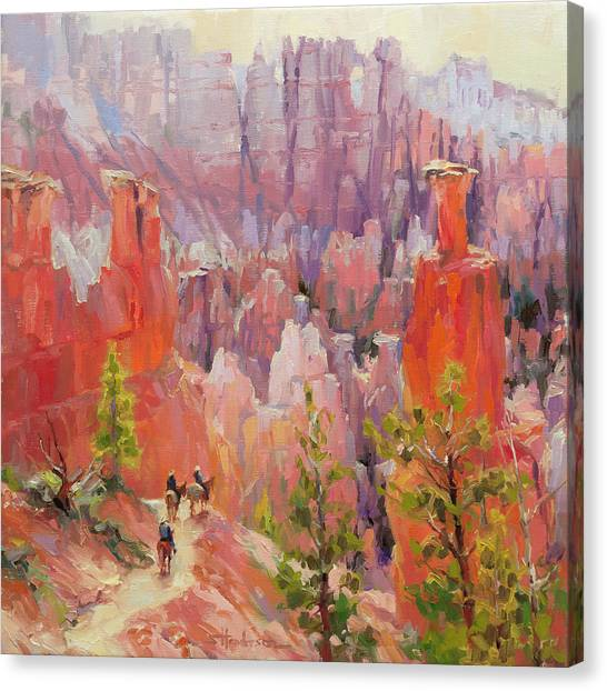 Canyon Canvas Print - Descent Into Bryce by Steve Henderson