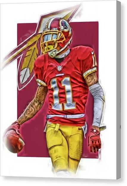 Washington Redskins Canvas Print - Desean Jackson Washington Redskins Oil Art by Joe Hamilton