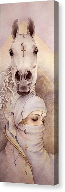 Desert Angels Canvas Print by Johanna Pieterman