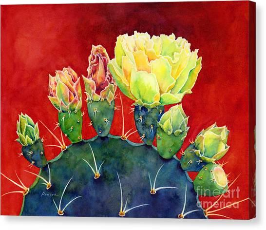 Yellow Flowers Canvas Print - Desert Bloom 3 by Hailey E Herrera