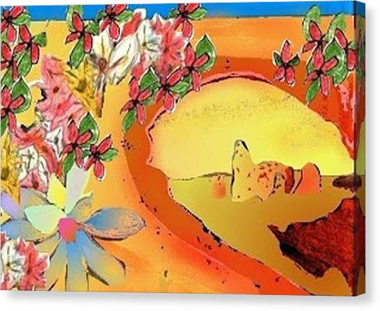 Desert Bridge Canvas Print