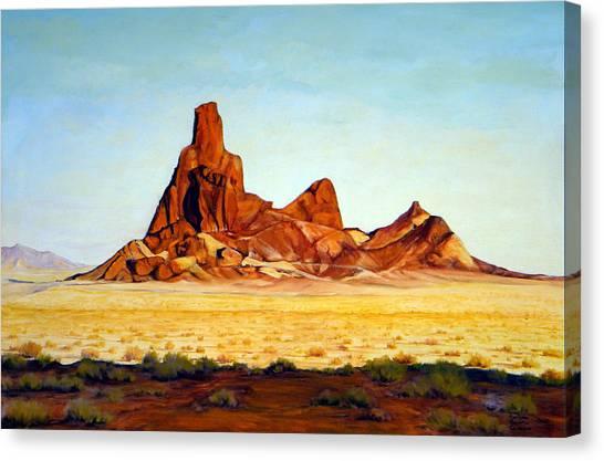 Desert Buttes Canvas Print by Evelyne Boynton Grierson