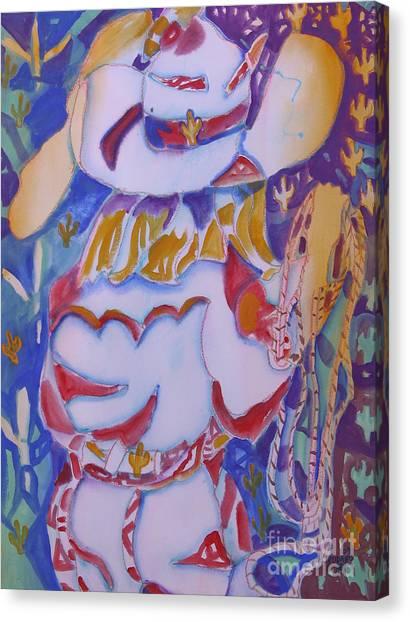 Desert Cowgirl Canvas Print