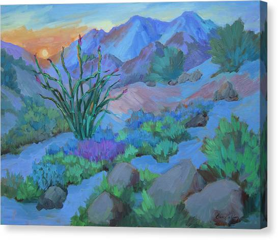 Mirages Canvas Print - Desert Dawn by Diane McClary
