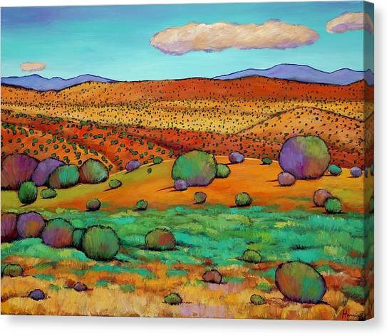 Rolling Hills Canvas Print - Desert Day by Johnathan Harris