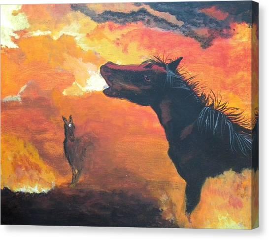 Desert Fire Canvas Print