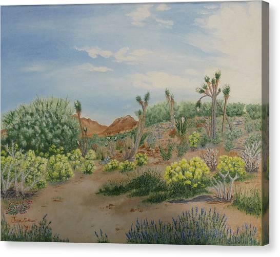 Desert In Bloom Canvas Print by Joan Taylor-Sullivant