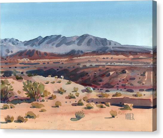 Desert Canvas Print - Desert In New Mexico by Donald Maier