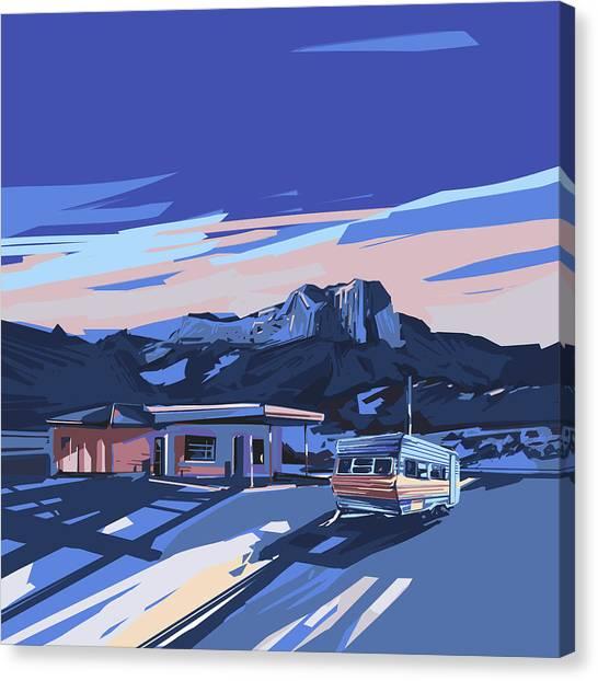 Southwest Canvas Print - Desert Landscape 2 by Bekim M