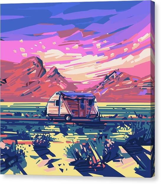Southwest Canvas Print - Desert Landscape by Bekim M