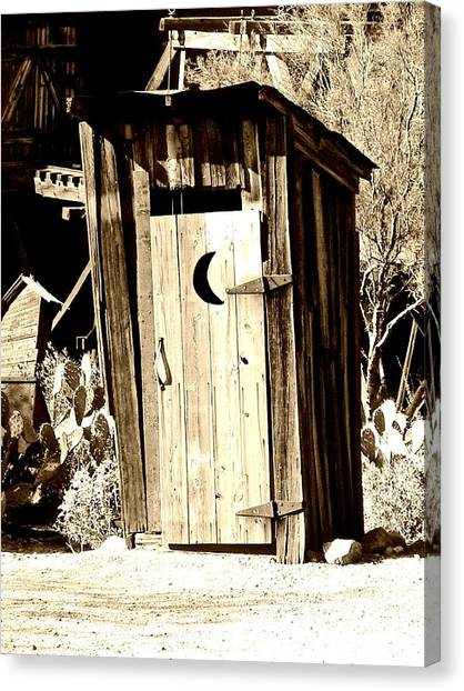Desert Loo Canvas Print by Cathy Dunlap