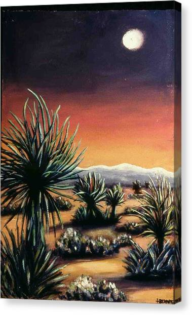 Desert Moon Canvas Print by Helen O Hara